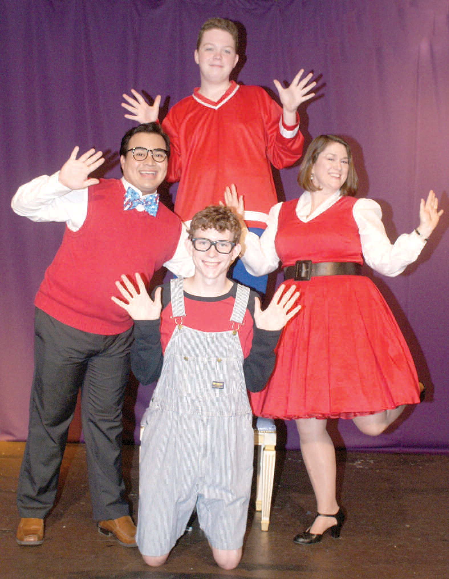 Meet the Lambchops - clockwise from top: Anthony Harvey, Diane Gilbert, Riley Smith, and Julian DeLeon.
