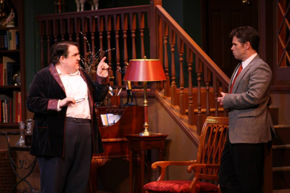 "(L-R) Hunter Boyle and Jason Stokes match wits in ""Sleuth"""