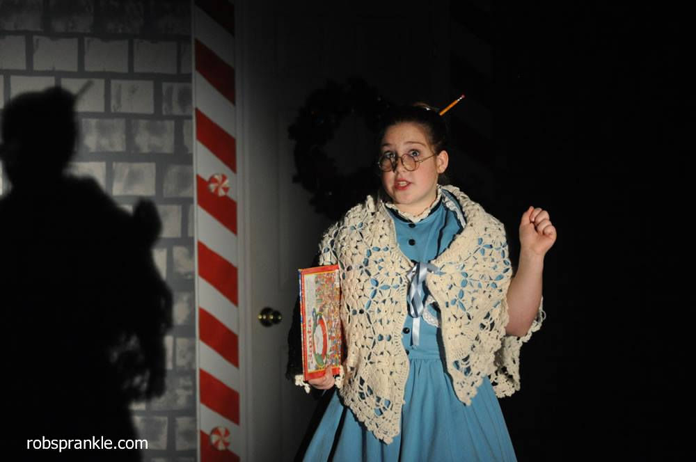 Rachael Sprankle as Miriam the Librarian;  photo by Rob Sprankle