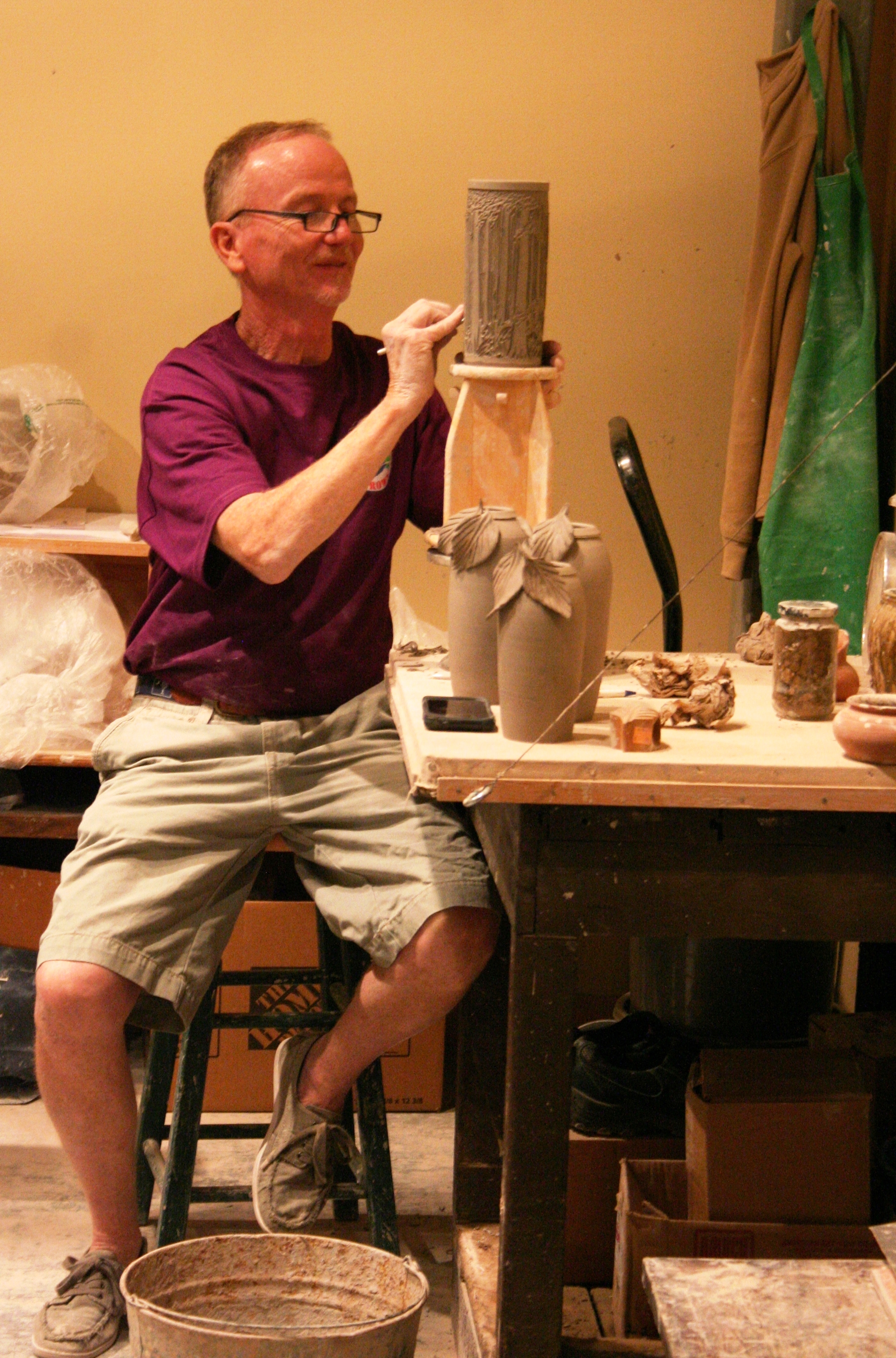 South Carolina art and artists, like Paul Moore (pictured), will be featured with an exceptional day of hands-on activities, art demonstrations and much more at Art Day on Saturday, March 1 from 10 a.m. – 4 p.m. at the South Carolina State Museum.  Visit scmuseum.org to learn more. Photo courtesy of the S.C. State Museum