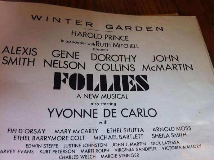 a page from the original Broadway Playbill