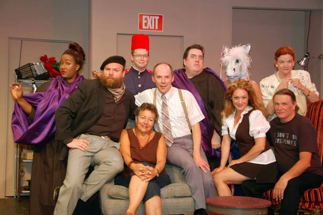 Cast of The Velvet Weapon with playwright Deborah Brevoort seated in center