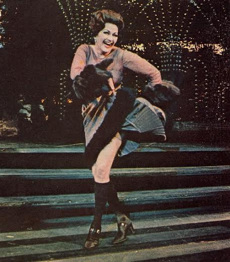 "Yvonne DeCarlo in ""Follies"" on Broadway"
