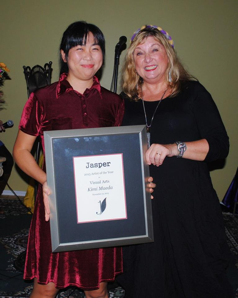 Kimi Maeda pictured with Jasper Editor Cindi Boiter