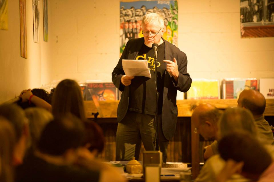 Al Black reading at drip