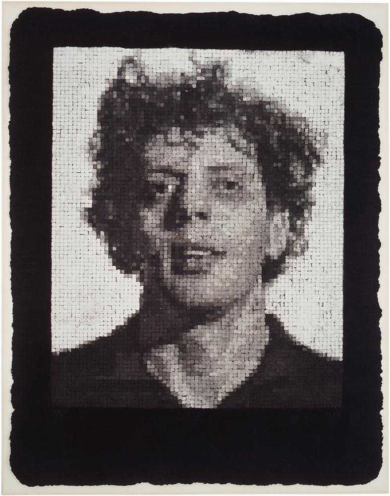 Phil III by Chuck Close