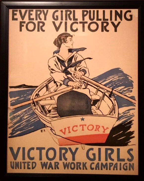 Photo: Every Girl Pulling for Victory, Edward Penfield (American, 1866-1925), 1918, Chromolithograph