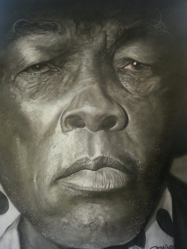 John Lee Hooker by Michael Geddings