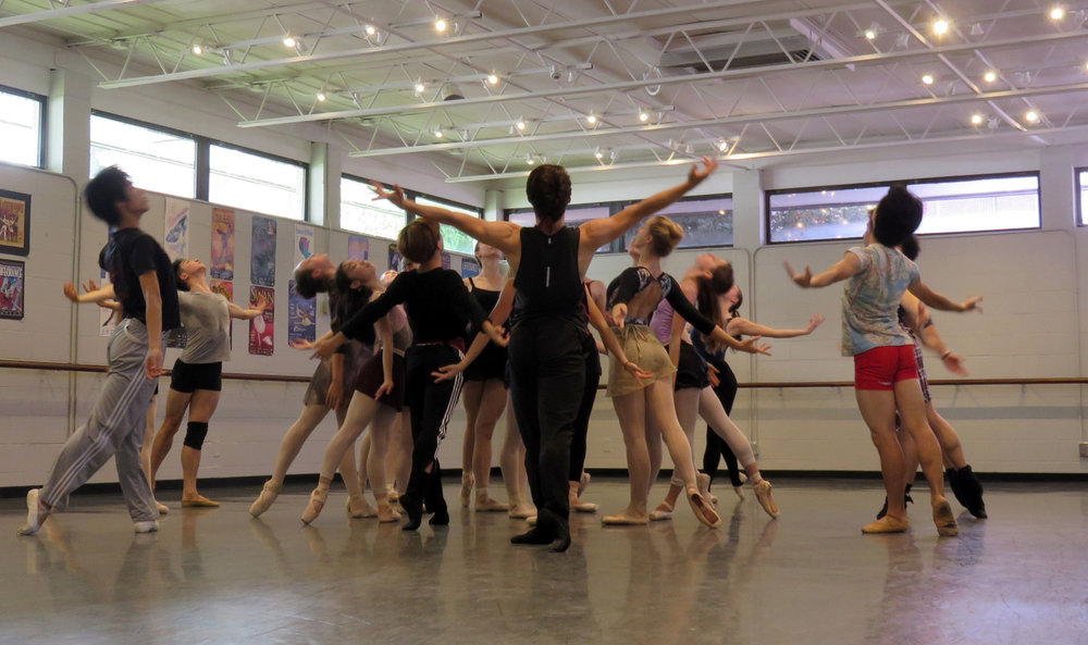 Columbia Classical Ballet rehearing  Imagine: Ballet Rocks