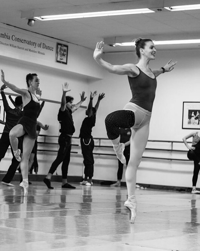 Soloist Abby McDowell rehearses for Beatles - The Ballet (photo Ashley Concannon)