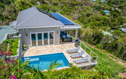 Woltkamp Coffey Residence Situated On A Hill Overlooking The Caribbean Sea To South