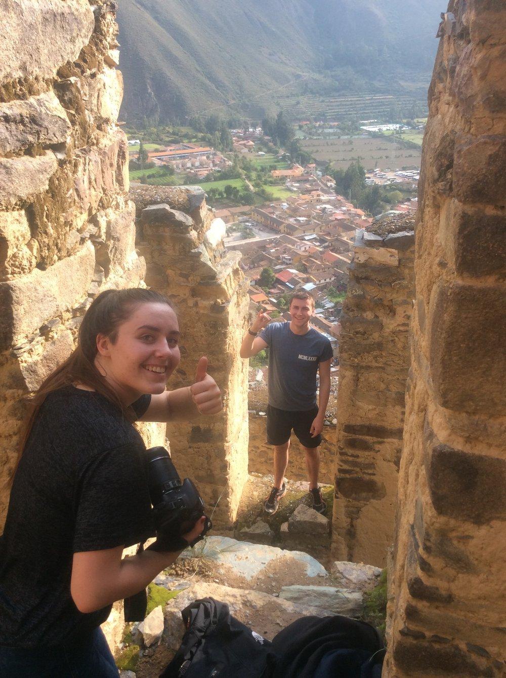 The view at Ollantaytambo