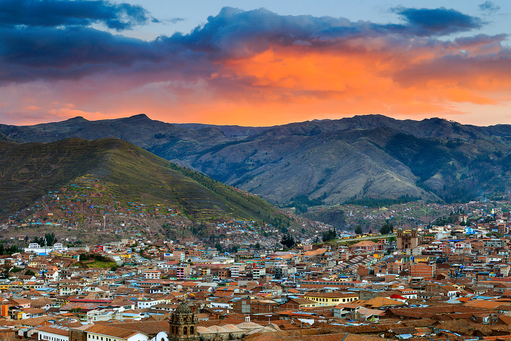 Cusco at sunset