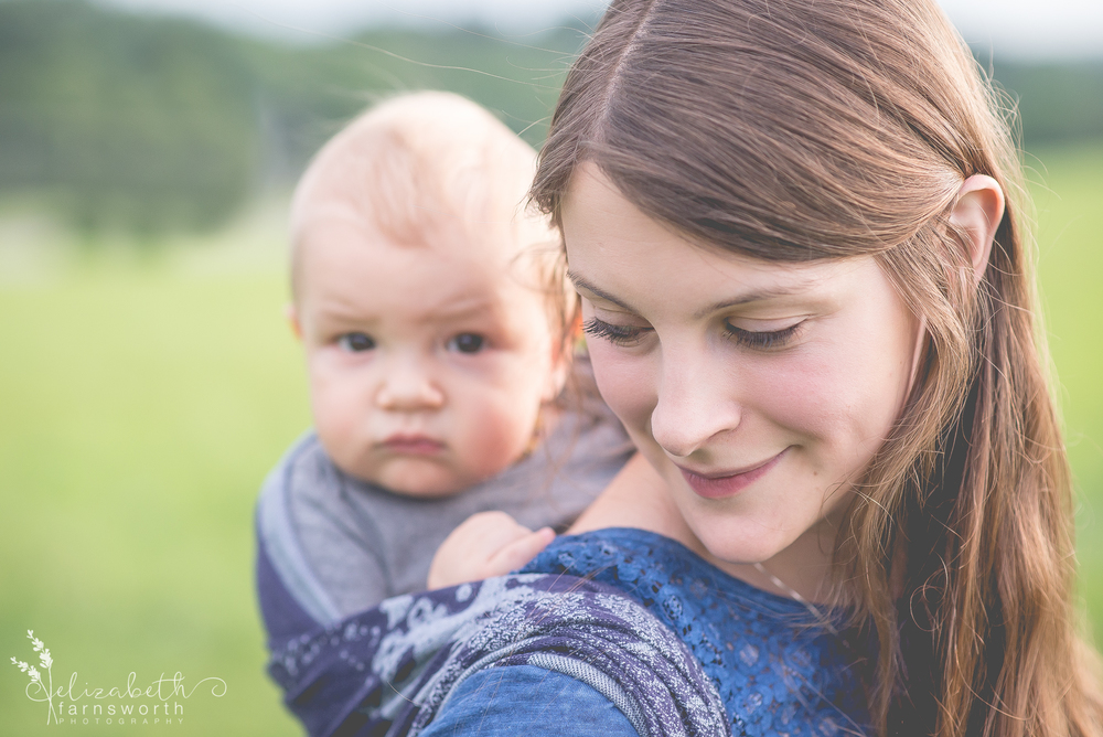 roanoke babywearing photographer - birth photographer - elizabeth farnsworth photography - roanoke, va