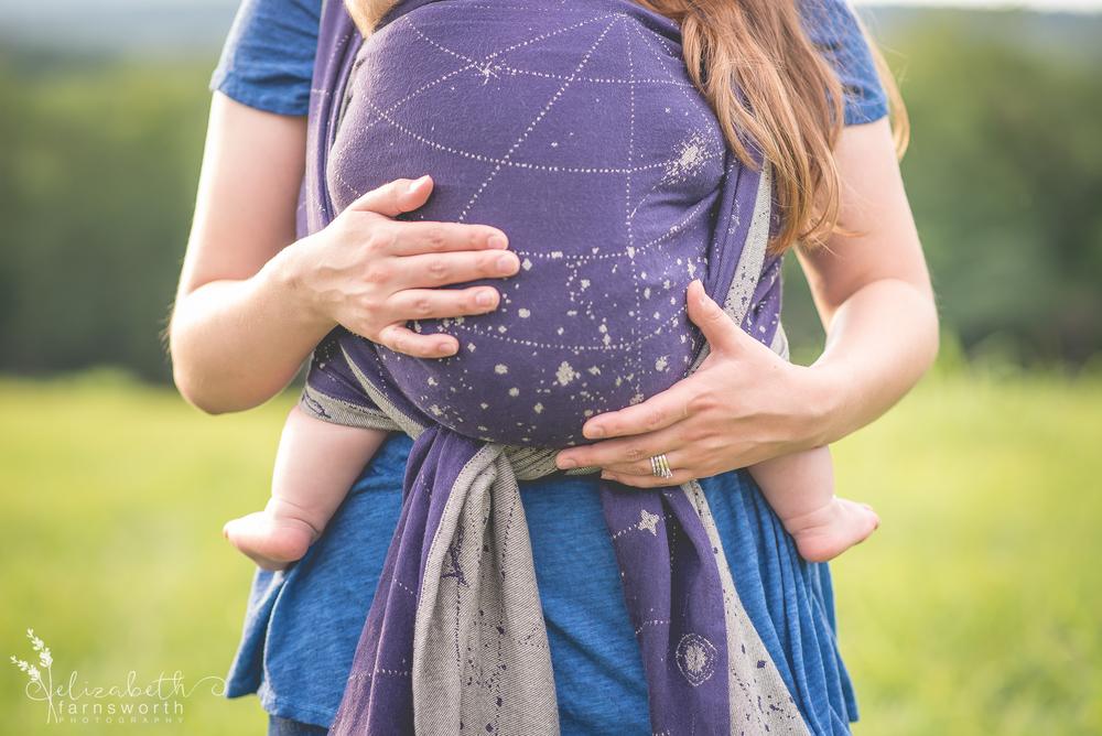 roanoke birth family photographer - babywearing session