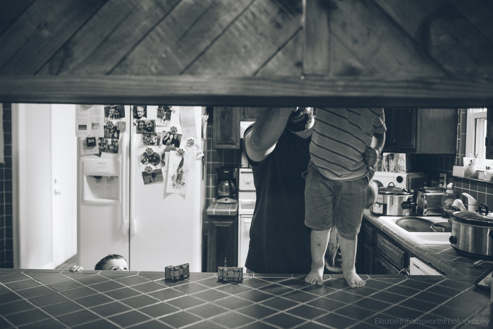 """I wonder how long it will take to realize, """"Wait. He's taller than the counter now""""? It all happens so slowly, yet suddenly."""