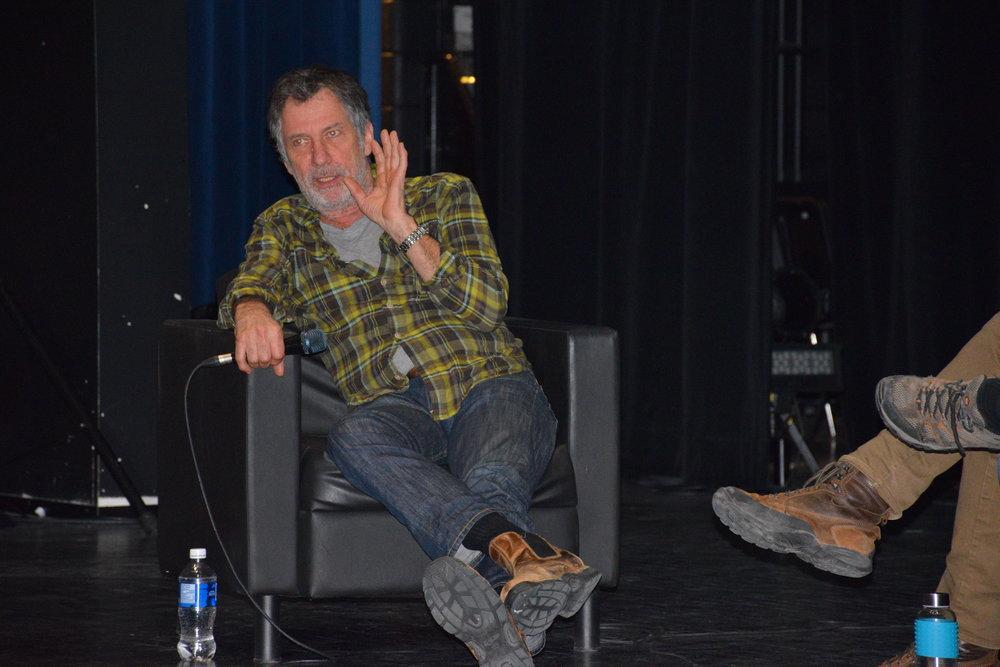 Robert Morin lors d'une conférence au Cégep de Drummondville le 18 avril dernier.