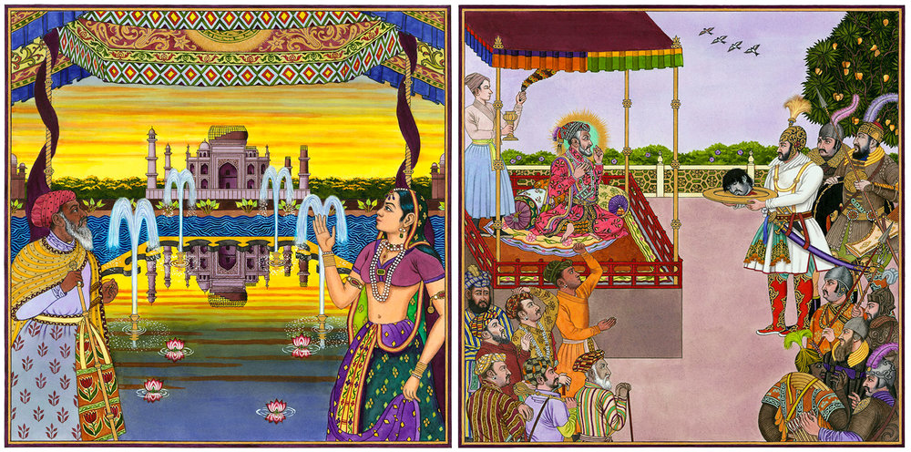 Cover and Interior for the children's book 'Taj Mahal'