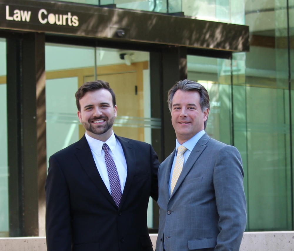 CLF Executive Director Derek Ross with CLF Board VP Shawn Smith at the B.C. Court of Appeal