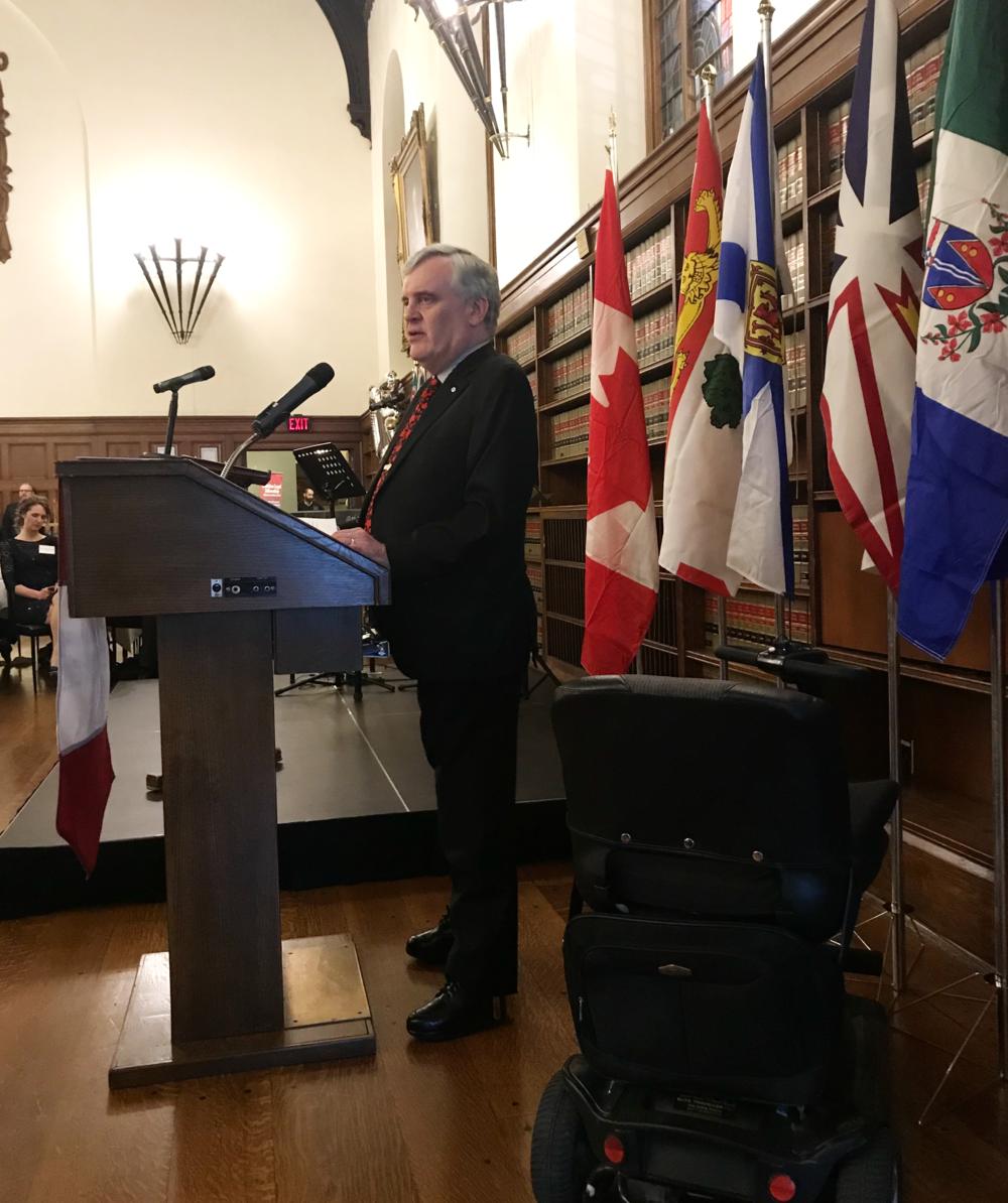 The Hon. David C. Onley, former Lieutenant Governor of Ontario.