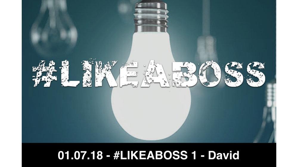 01.07.18 - #LIKEABOSS 1 - DAVID
