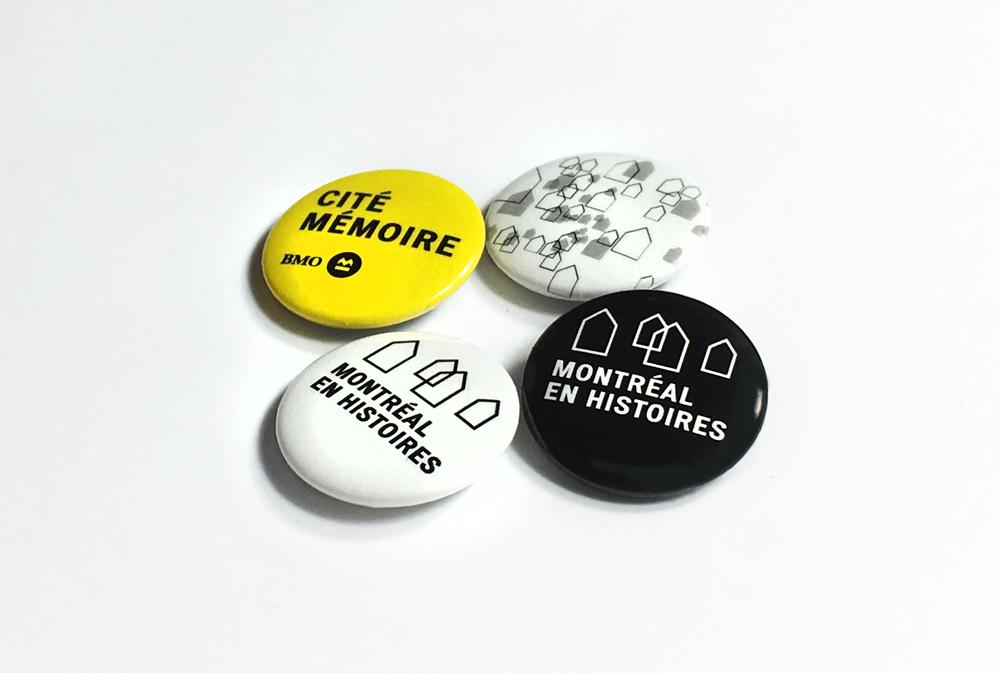 Montreal en Histoire button set