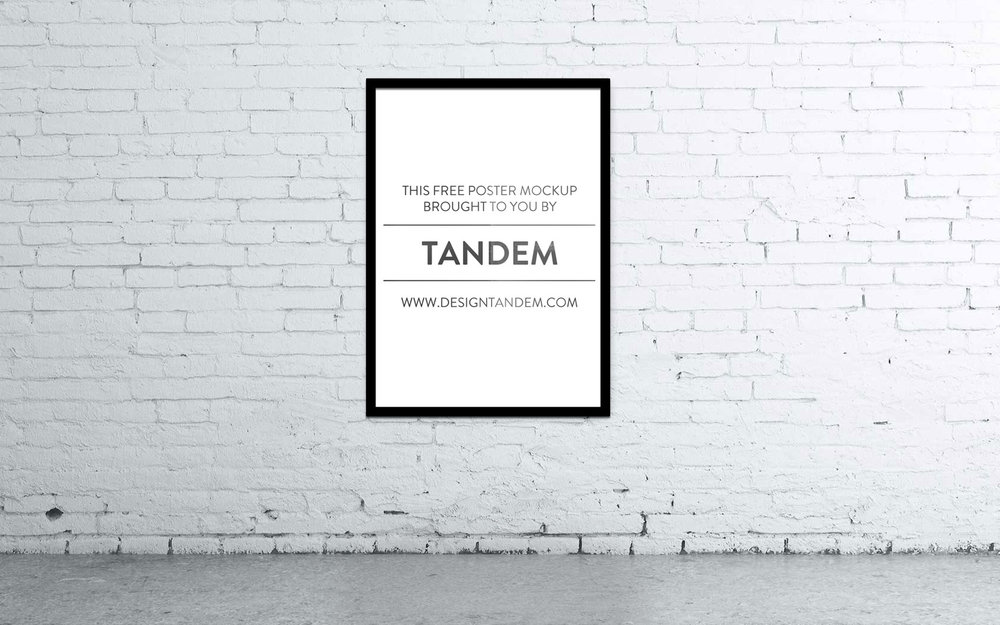 Need some portfolio help? Design Tandem's free mockups are here to help our fellow designers professionally display their work. Free PSD file with a smart layer and replaceable background image.   Just click the button below to download the file.
