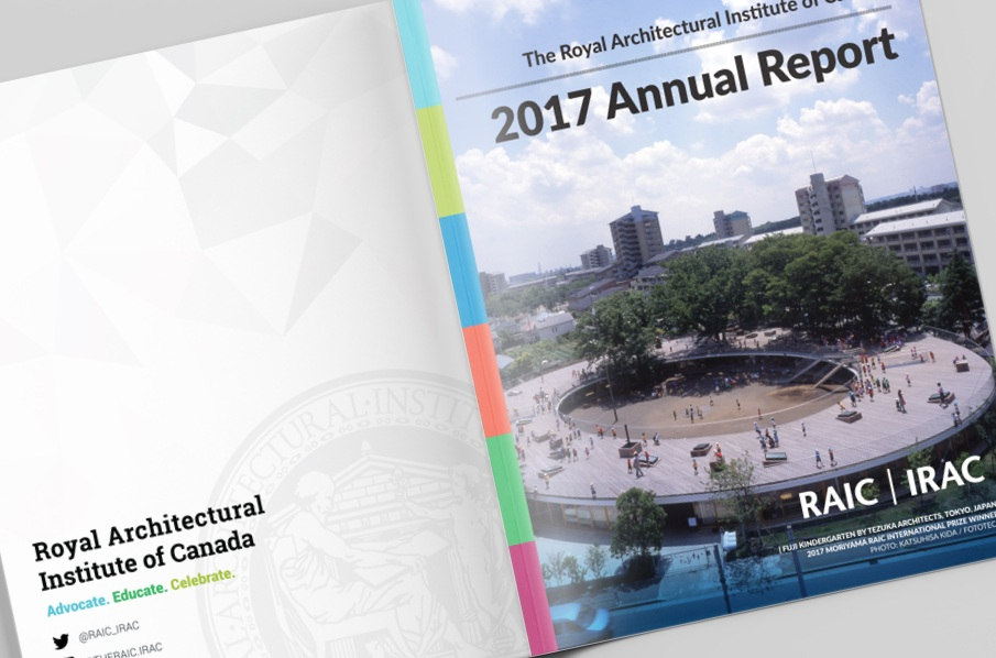 Royal Architectural Institute of Canada - Annual report Design