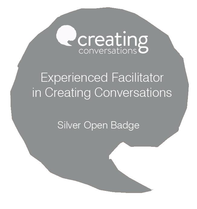 SilverBadgeExperiencedFacilitatorCreatingConvosBadge.png