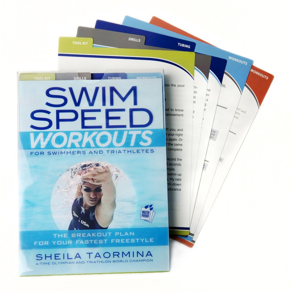 Swim Speed Workouts Designed for the swimmer or triathlete who practices on their own and wishes to develop proper stroking mechanics, Swim Speed Workouts is a 16-week program certain to keep athletes engaged and challenged. Each workout card is waterproof and can be dried off and placed back in the deck after the session.