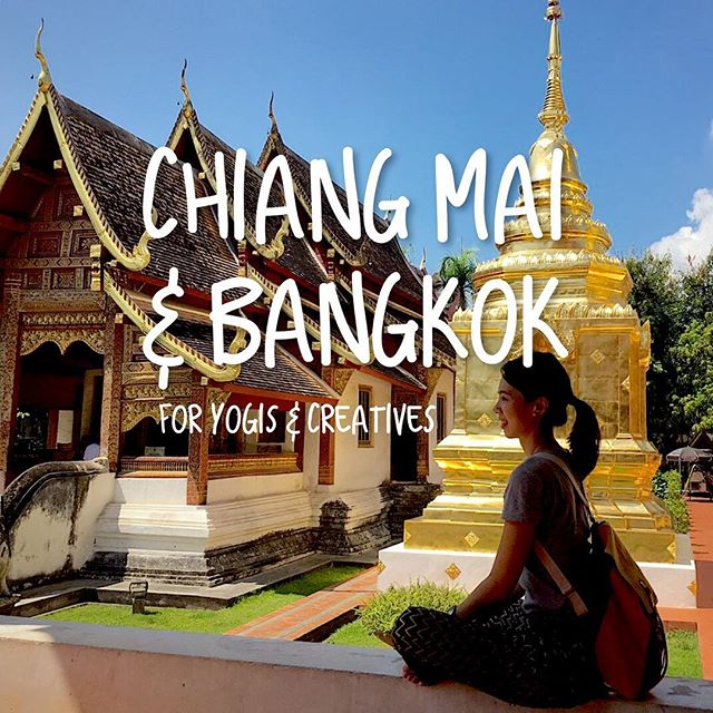 🇹🇭 Chiang Mai & Bangkok 10 things for Yogis & Creatives  1⃣ 🕌 Shooting a nice and glamour temple selfie #WatPhraSingh 2⃣ 🥕Try the trendy Thai healthy restaurant @gingerfarm_kitchen  3⃣ 🍍Grab fresh fruits on boat #FloatMarket 4⃣ 🧘🏻‍♀️ Must take a yoga class #FreedomYoga and @yogatiquebangkok  5⃣ 🥣 Feed yourself with a yummy acai bowl @rusticandblue  6⃣ 🚂 Visiting the most dangerous farm market #MaeKlongMarket 7⃣ 🌳 Stay #NaNirandResort and chill in front of their 100-years-old tree 8⃣ 👩🏻‍🌾 Explore the local's market at #WarorotMarket 9⃣ 🏊🏻‍♀️ Swimming with nice view at #137PillarsSuites 🔟 👩🏻‍🍳 Have fun and eat self-made thai food at #SilomCookingStudio 🕉 Lastly, say Namaste to everything you experienced  #designerwhotravels #nomad #creativeitinerary #meettheworld #designer #thailand #travel #trip #chiangmai #yoga #yogi #bangkok