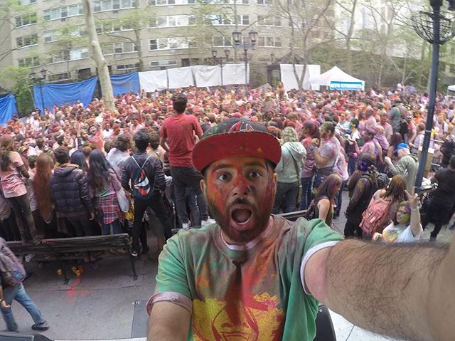 #GoPro shot of #Holi2016 #HoliNYC by @nycbhangra - had a colorful time hosting this annual Mega Event in the City!
