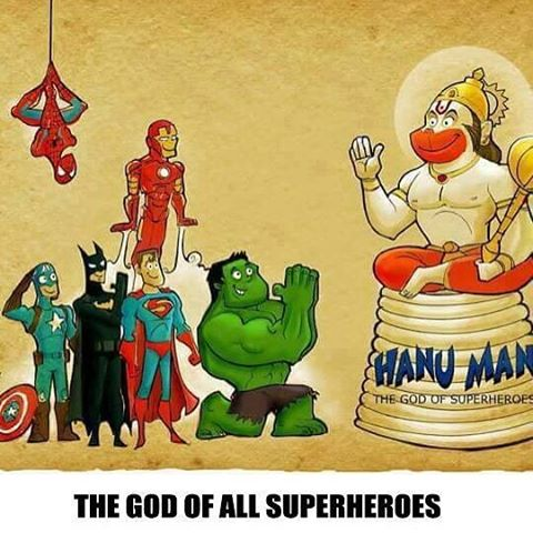 #JaiHanuman :) def. the God of all #Superheroes #DesiHero