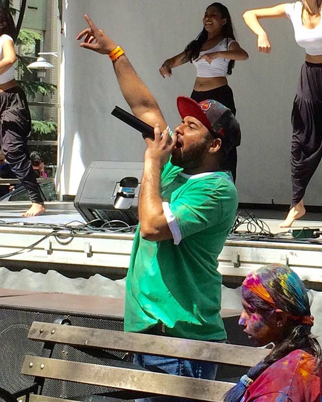 MC VIBES during #HoliHai by @nycbhangra and a bit of @citychaahat #HoliNYC #montyislive