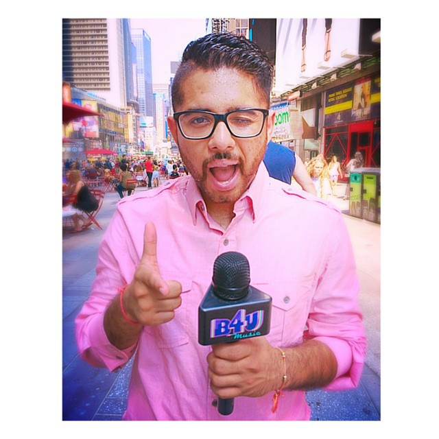 shooting for b4u music in times square