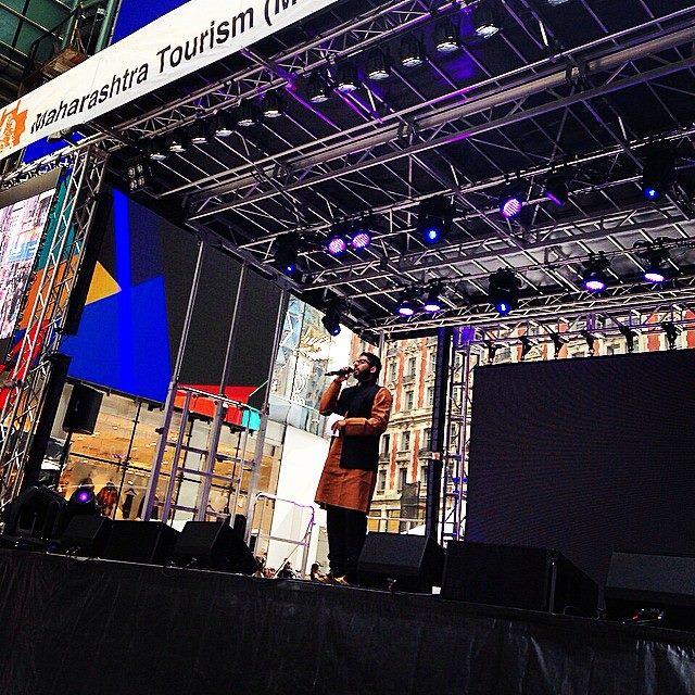 hosting diwali @ times square