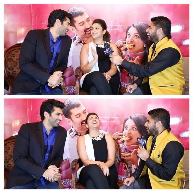 interviewing aditya roy kapur & parineeti chopra