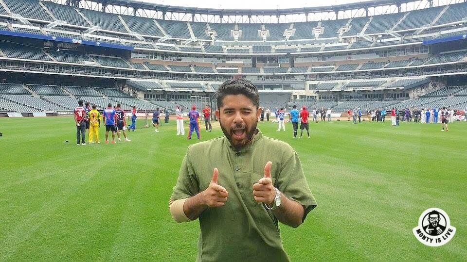 at the cricket all stars match at the citi field in nyc