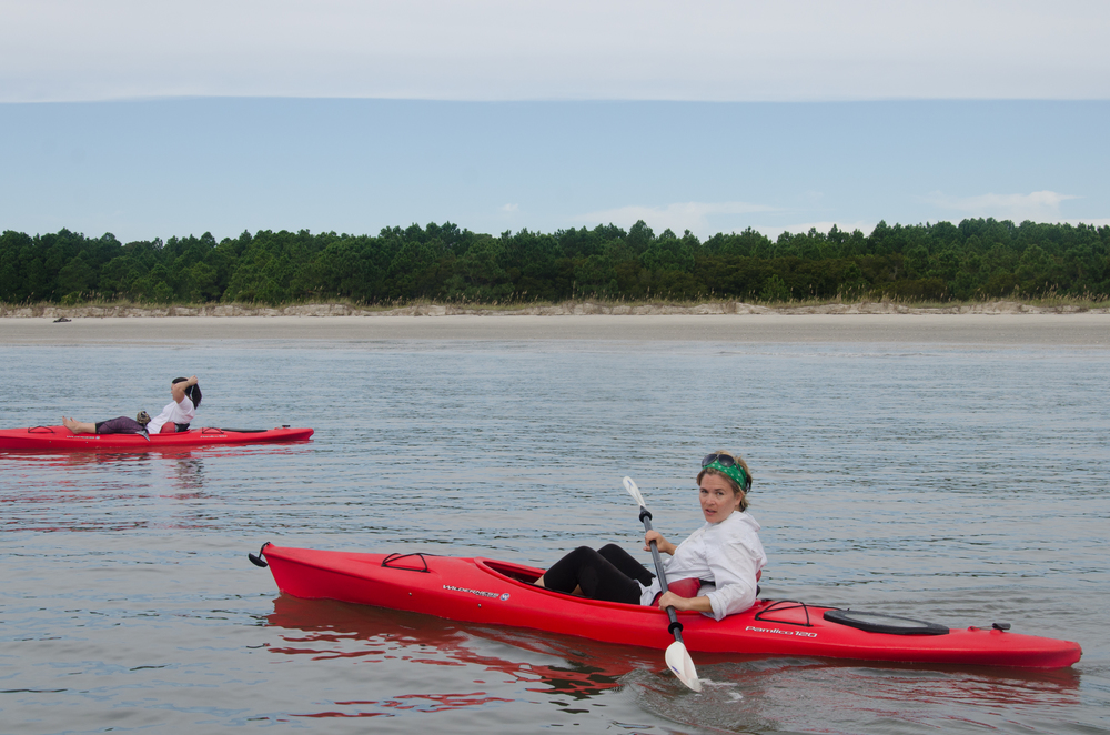 Kayaking around Edisto Island.