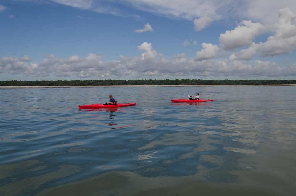 Circumnavigating Edisto Island via kayak.