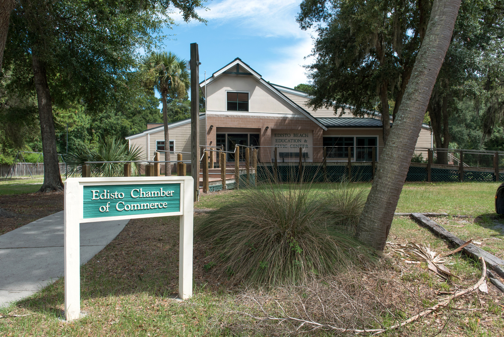 Exterior of the Edisto Chamber of Commerce
