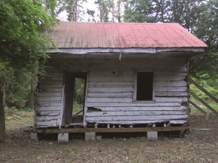 The Cabin before it was dismantled and taken to Washington DC