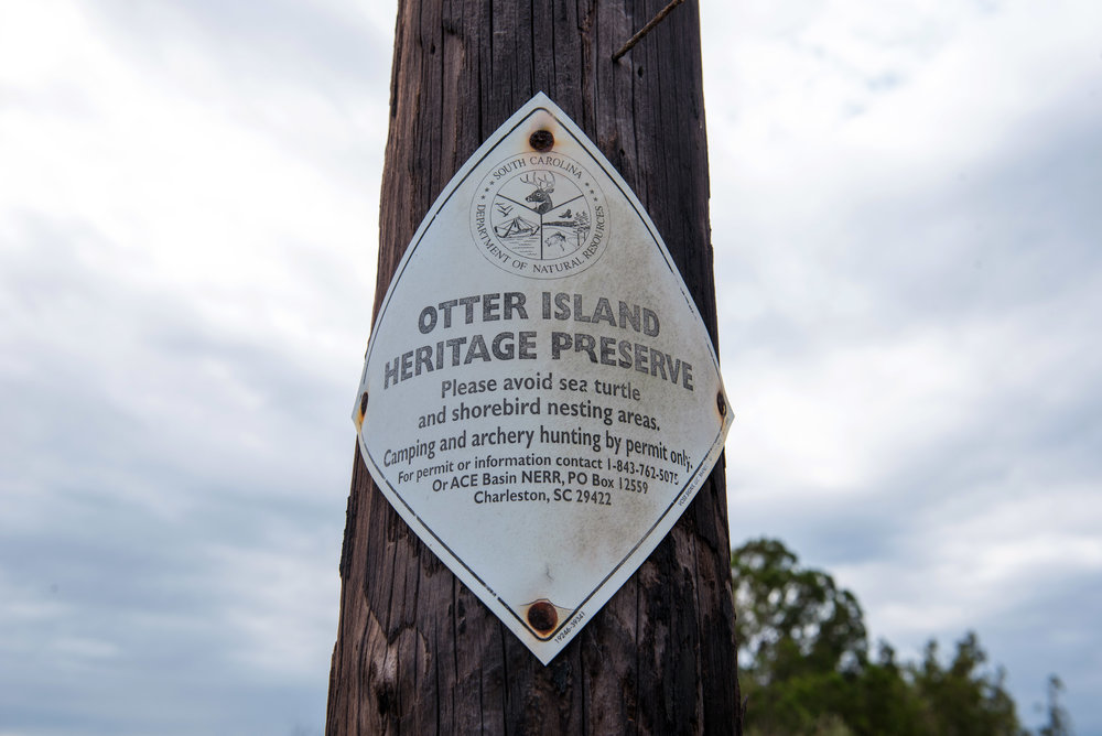 DNR sign posted on Otter Island.