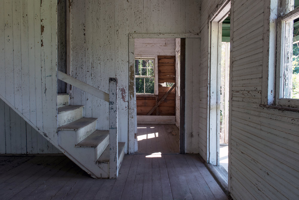 Interior view of the Hutchinson House, Edisto Island, SC.