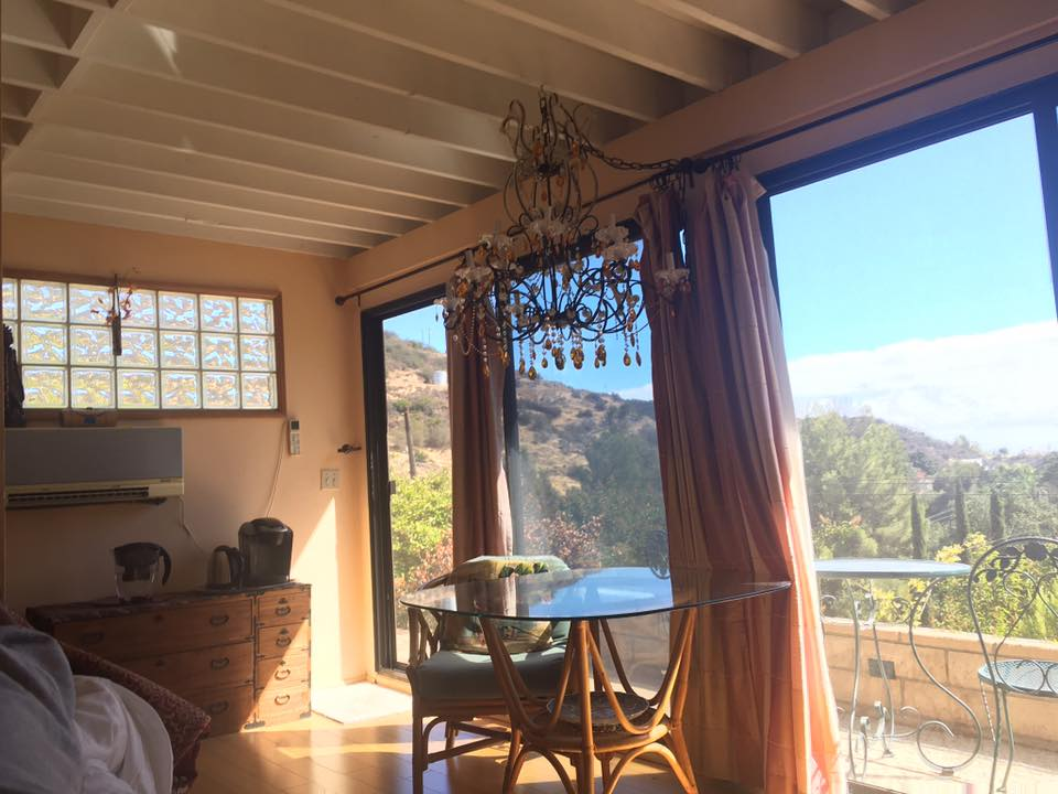 Our airbnb in the hills of Malibu