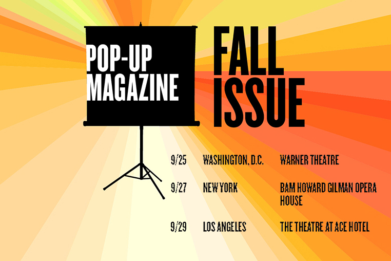 September 20 - Pop-Up Magazine   Landon joins the Pop-Up Magazine Fall Tour