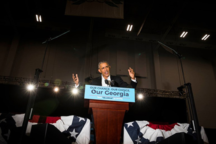 November 3 - The New Yorker   Landon photographs Obama in Atlanta