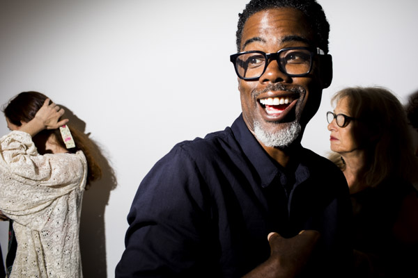 September 1 - Vanity Fair   Landon photographs the JR show at Perrotin with Alicia Keys