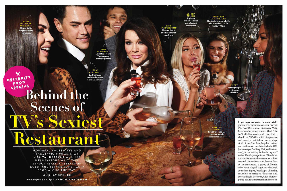 February 20 - People Magazine   Landon photographs the Vanderpump Rules cast for People