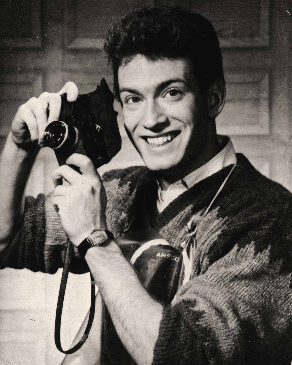 My dad as a young photographer in Passaic, NJ